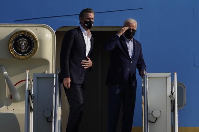 Joe Biden visits the American West to support the governor of California